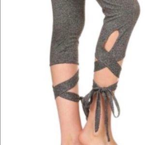 Pants - Womens cuff tie leggings